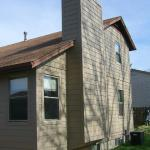 Pritchard, back of house after we installed James Hardie fiber cement siding and trim
