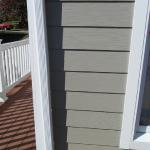 Hauge, corner after we installed James Hardie fiber cement siding and trim.