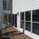 Miller, back deck after we installed James Hardie fiber cement siding and trim. Other improvements include Pella windows