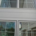 Miller, window after we installed a Pella window and James Hardie fiber cement siding.